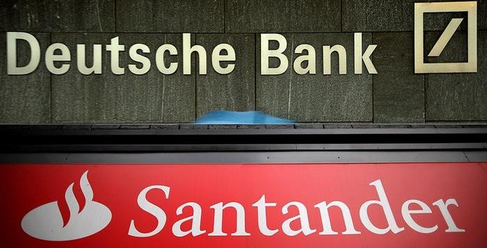 The Fed has found fault with the financial plans of Santander and Deutsche Bank